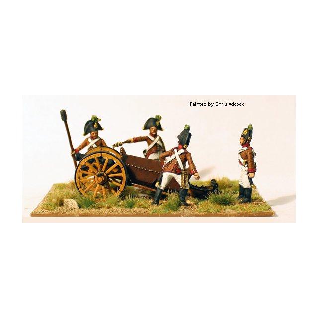 Artillery firing 7pdr Wurst Howitzer