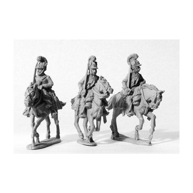 Chevauxlegers , swords shouldered, galloping