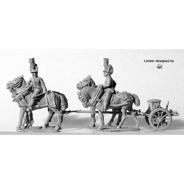 Four horse Foot artillery limber, no gun