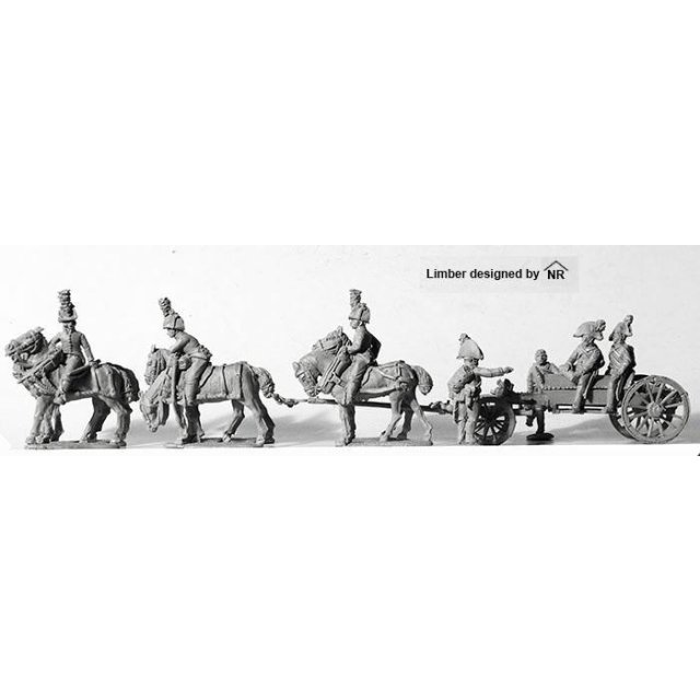 Six horse, 'cavalry ' limber with 6 pounder Wurst, 7 pounder