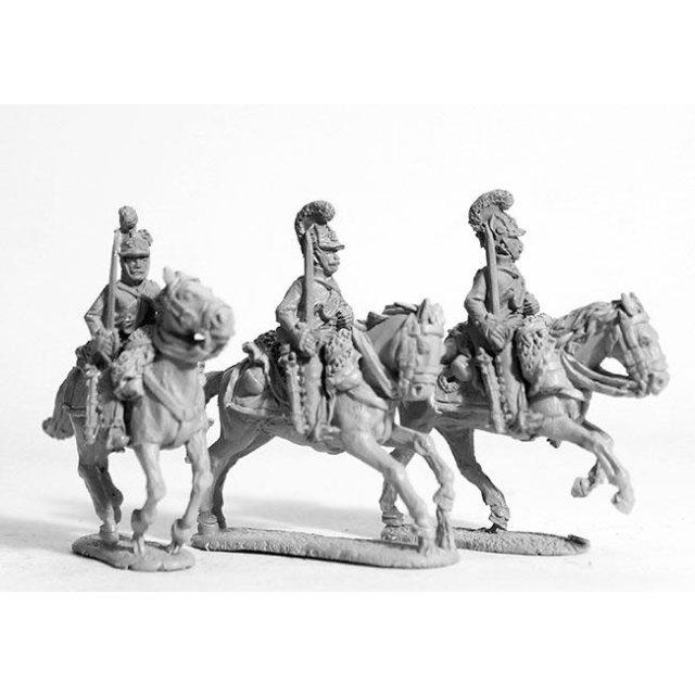 Dragoons shouldered arms, galloping