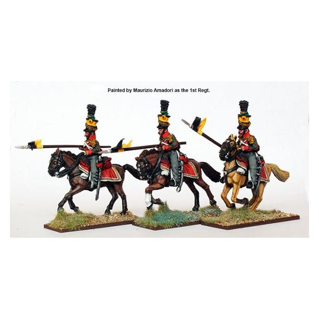 Uhlans charging, couched lances