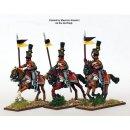 Uhlans, galloping, lance upright