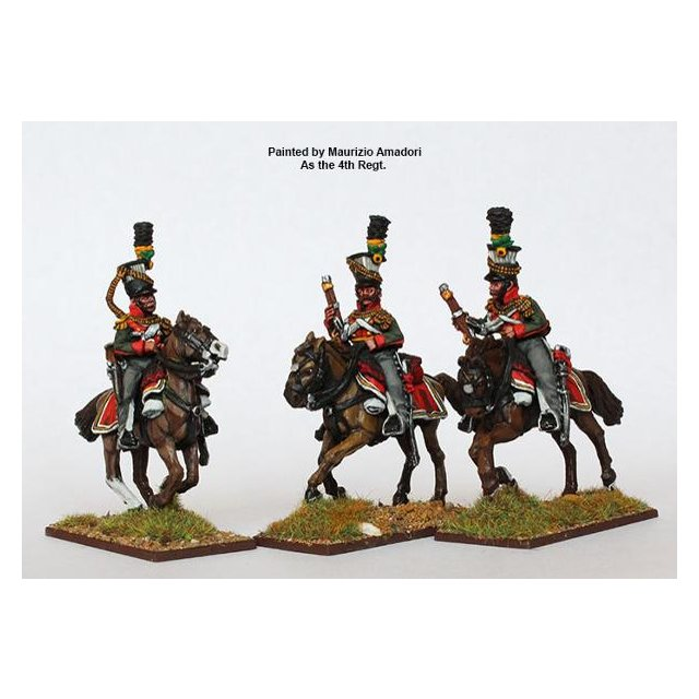 Uhlans, galloping with carbines