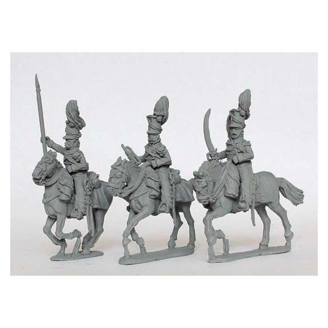 Uhlan Command galloping, falling plume (3rd regt)