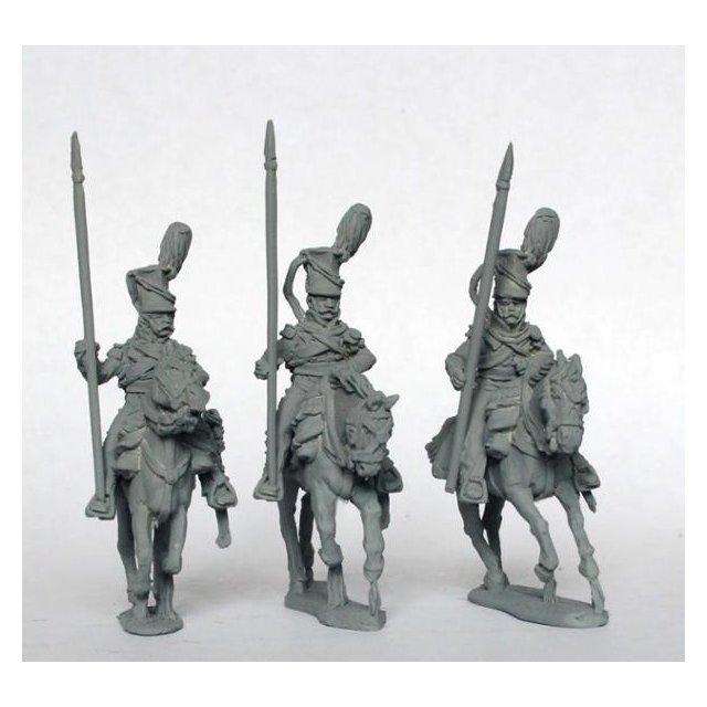 Uhlans, galloping, lance upright, falling plume (3rd regt)