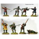 Melee on foot ( 8 Men-at-Arms and infantry fighting hand...