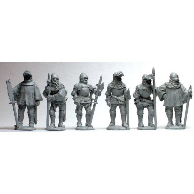 Men-at-Arms standing,separate pole arms