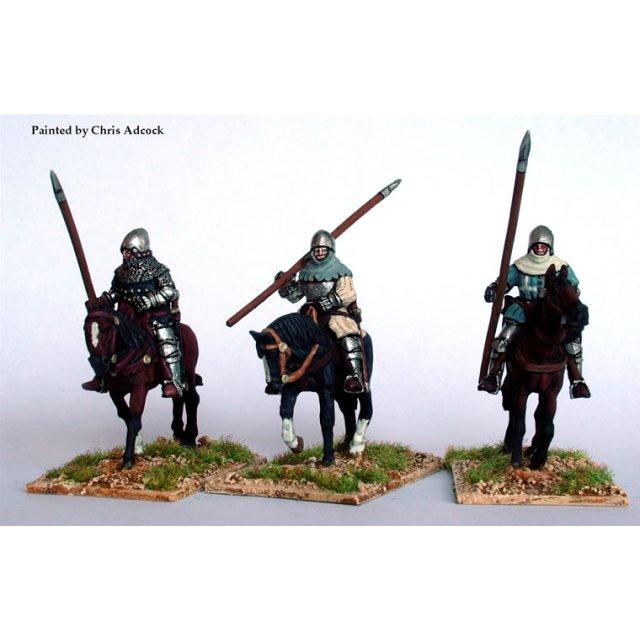 Mounted sergeants on walking horses