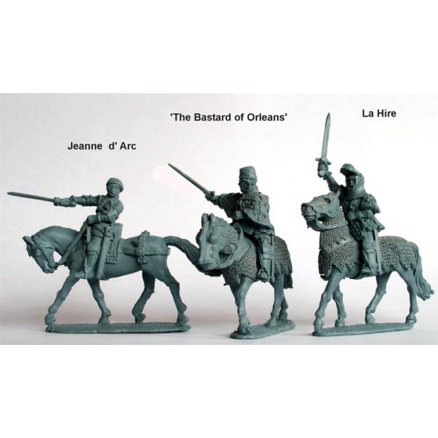 Jeanne d? Arc, La Hire, ?Bastard of Orleans? (all mounted)