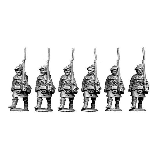 Highlanders, advancing, shouldered arms