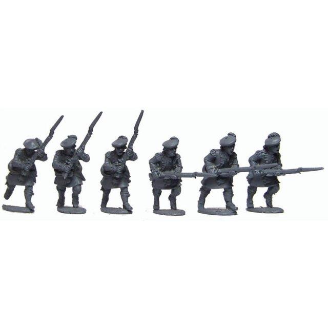 Highland Light Infantry company, charging