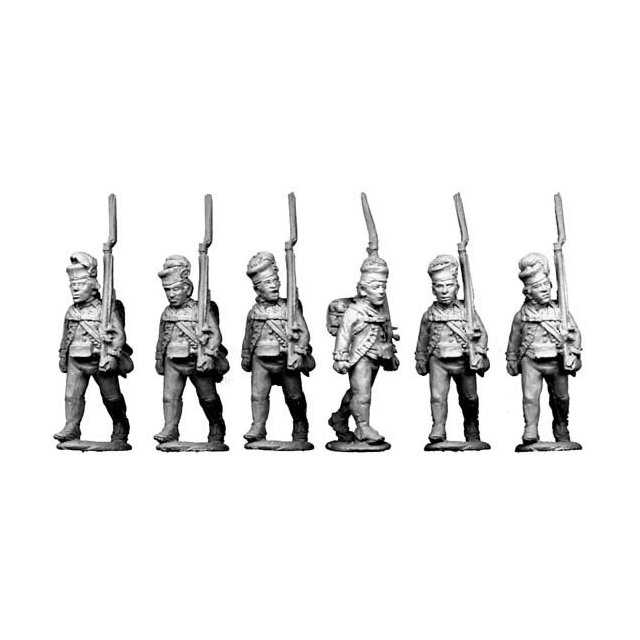 Highlanders advancing, shouldered arms