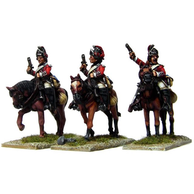17th Light Dragoons with pistols on picket duty