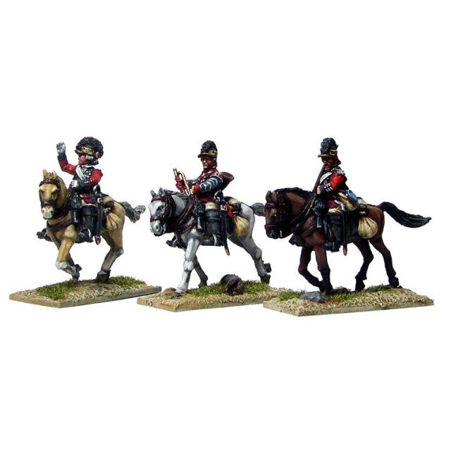 British 16th Light Dragoons Command in Tarletons