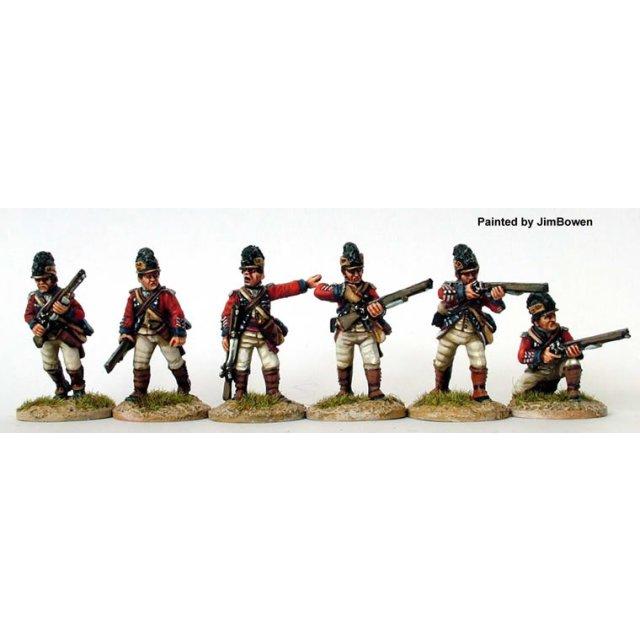 British 16th Foot Dragoons, skirmishing with rifles