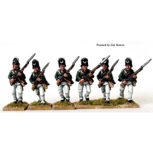 Queens Rangers - Light Company, advancing
