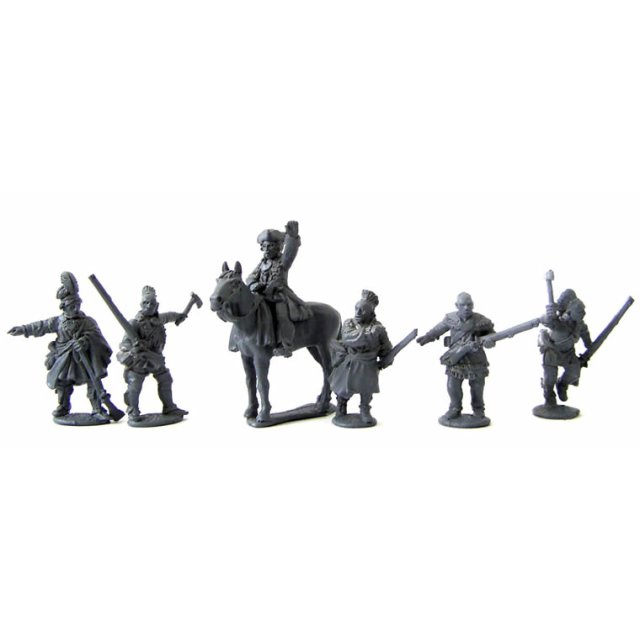 Chiefs (Mad Dog, mounted, Red Jacket, Joseph Brant and 3 other