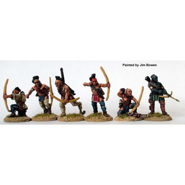 Woodland Indians - Warriors skirmishing with bows