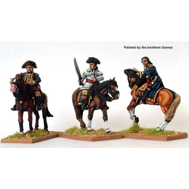 Continental Infantry ? Mounted Infantry Officers (one in hunting