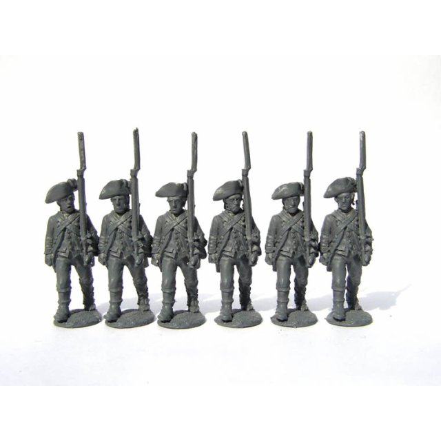 Continental Infantry - Infantrymen advancing, shouldered arms