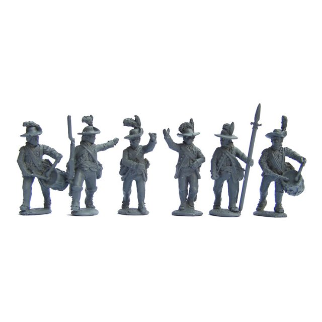 British Infantry Command, slouch hats and cut-down coats, advanc