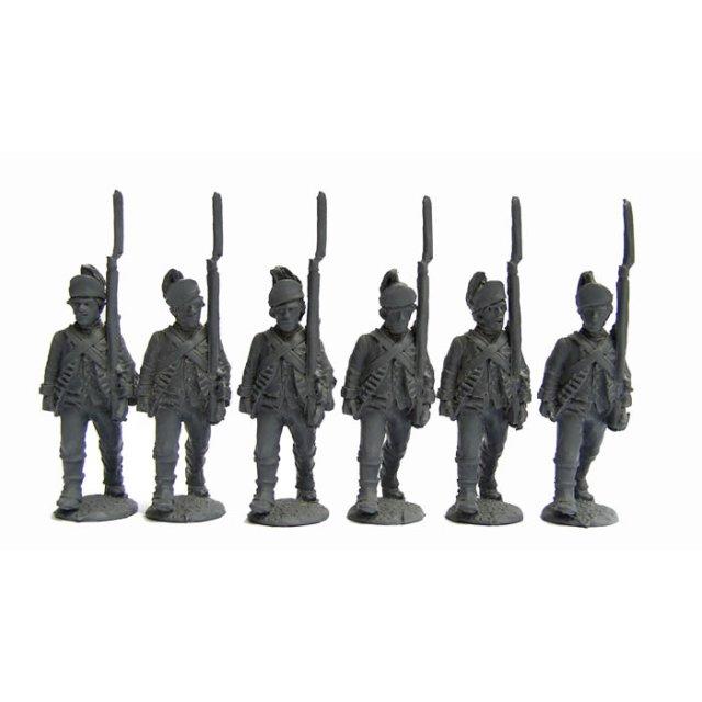 British Infantry advancing shouldered arms'Saratoga uniforms'
