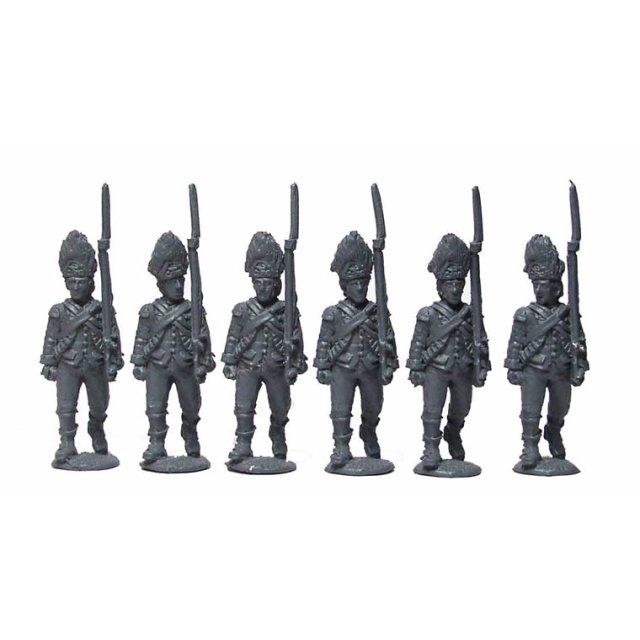 Grenadiers advancing, shouldered arms
