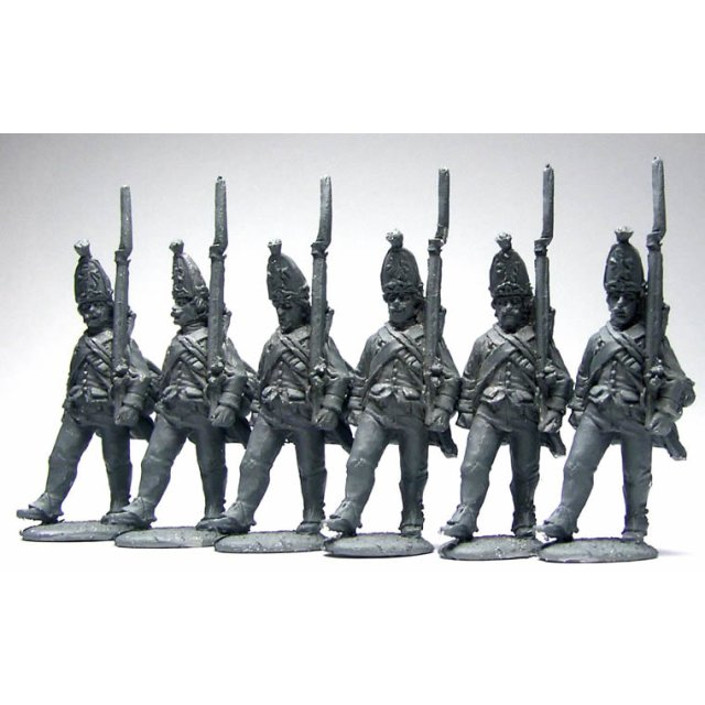 Hesse-Cassel Grenadiers advancing ,shouldered arms