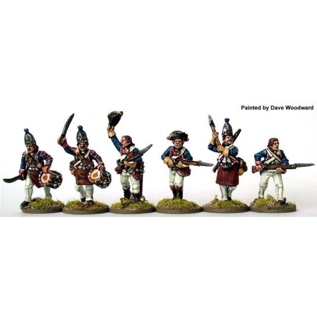 Hesse-Cassel Grenadier command charging