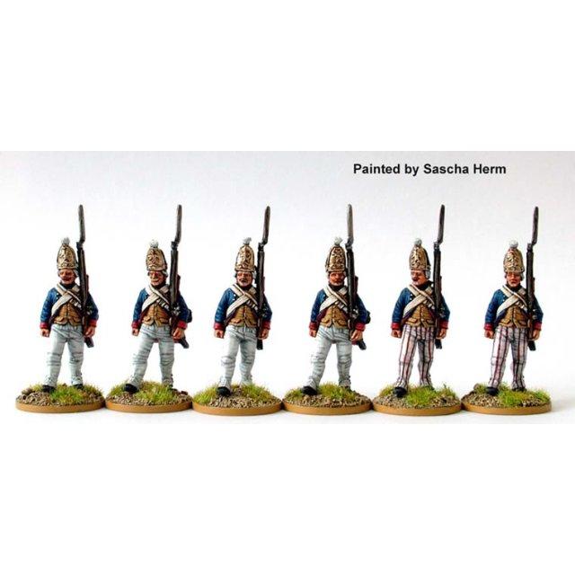 Grenadier Regt. Rall, Grenadiers advancing, shouldered arms
