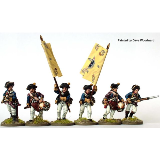 Hesse-Cassel Musketeer command charging