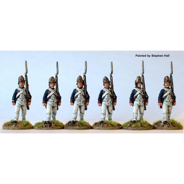 Hesse-Cassel Fusiliers advancing, shouldered arms