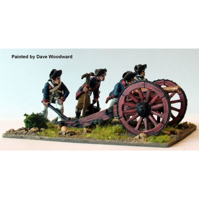 Continental Artillery aiming 6 pounder