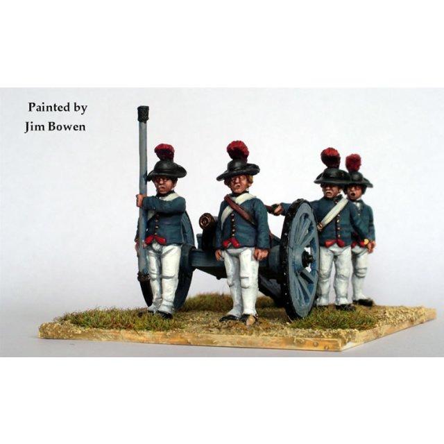British Royal Artillery firing 6 pounder,Southern dress