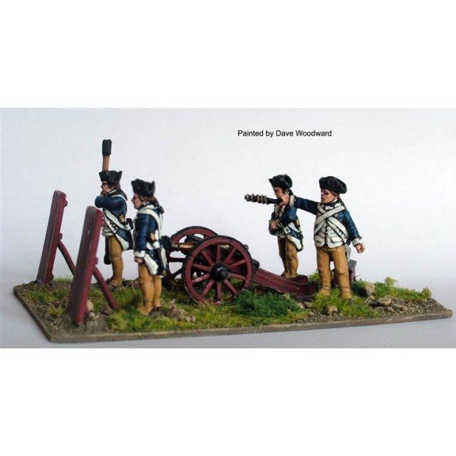 Continental Artillery firing 3 pdr ?Butterfly? (crew as for AW 1