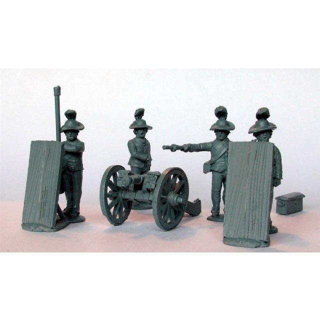 British Royal Artillery in Southern dress firing 3 pdr ?Butterf
