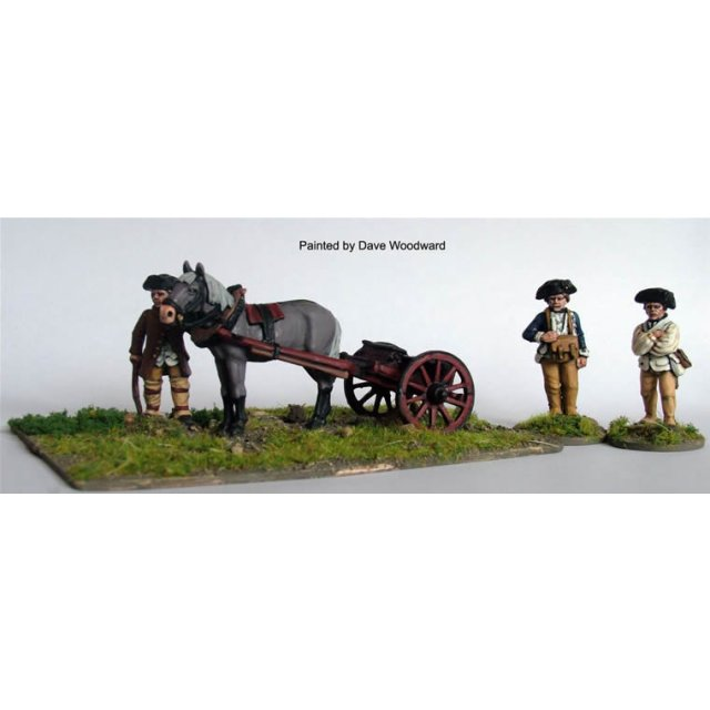 Ammunition cart for 3 pdr with horse and driver and 2 Continenta