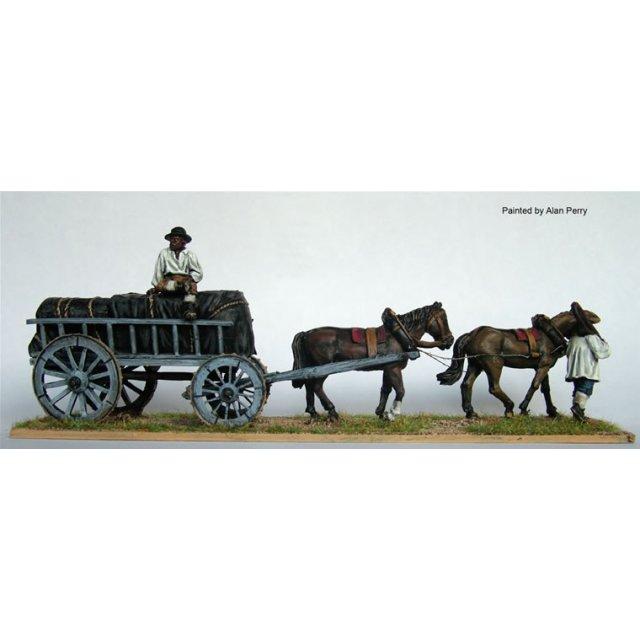 Four wheeled ammunition wagon
