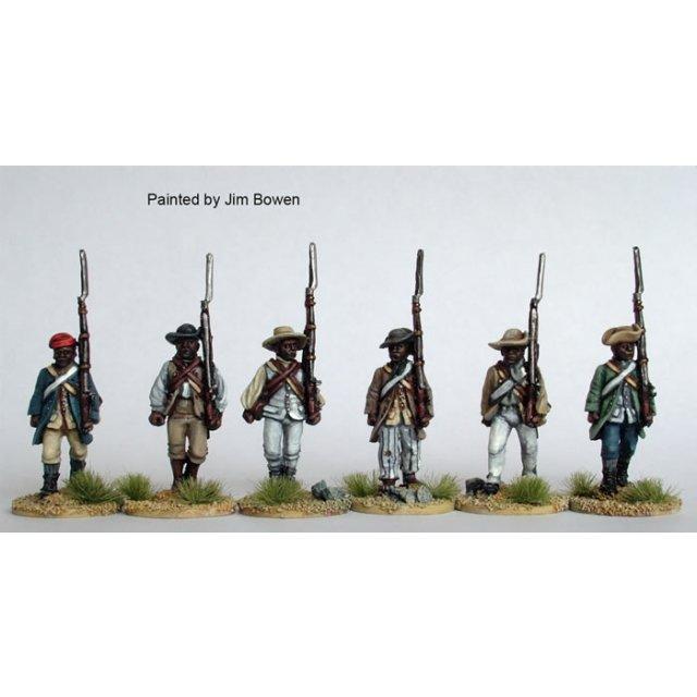 Black Militia advancing, shouldered arms