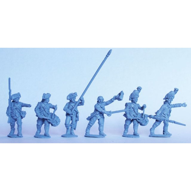French Infantry command advancing