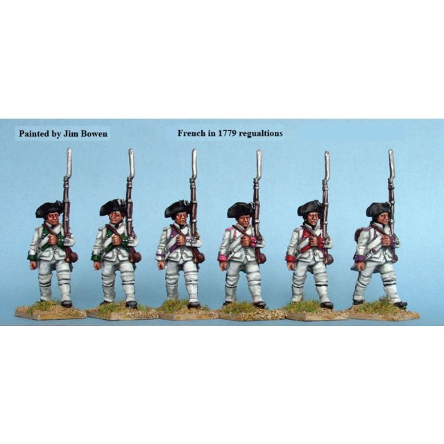 French Fusiliers march attack, 1779 coats
