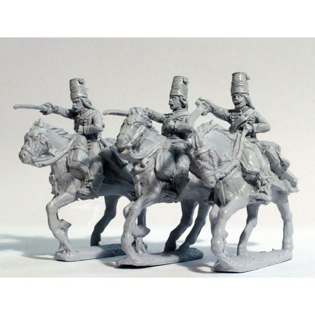 Hussars swords charging, without pelisse