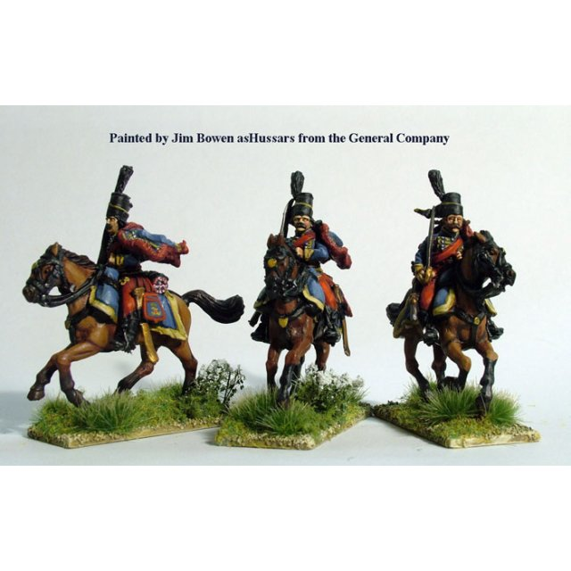 Hussars swords shouldered, galloping, with pelisse