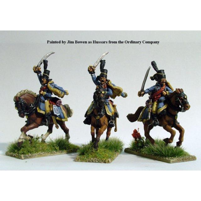 Hussars swords charging, with pelisse