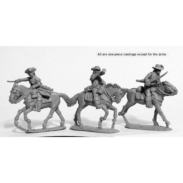 Mounted American Militia command