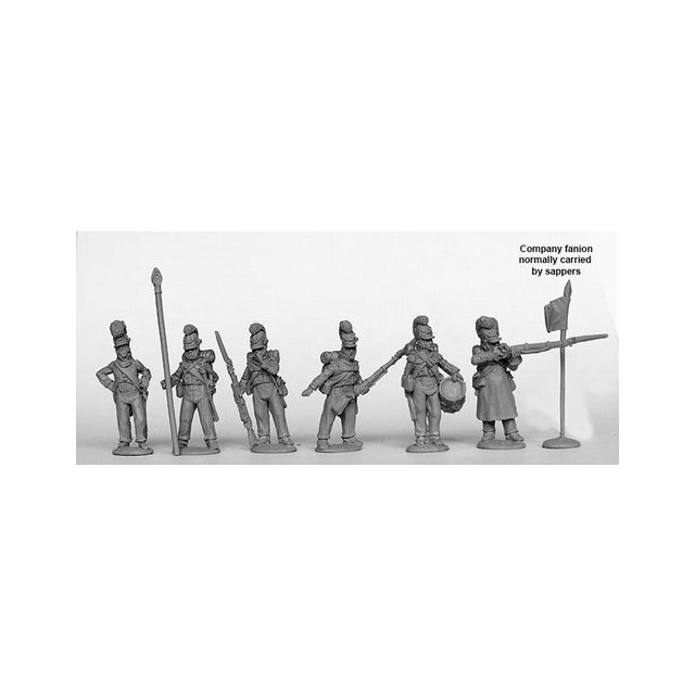 Line Infantry Command standing 1812