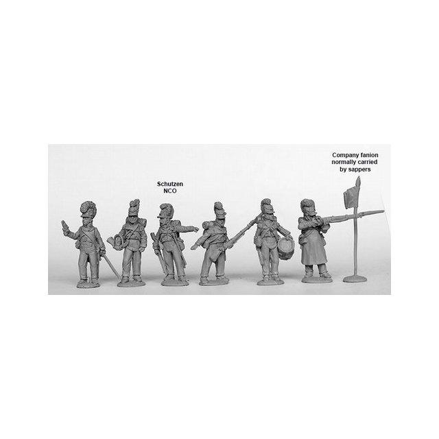 Light Infantry Command standing, 1812