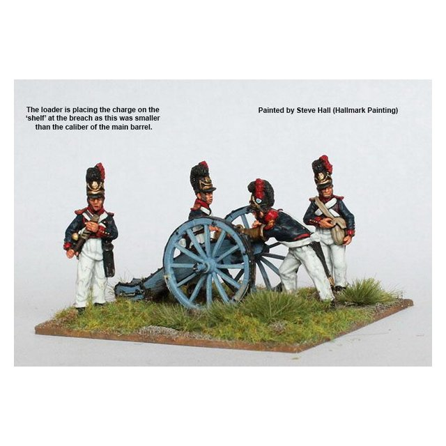 Artillery loading howitzer