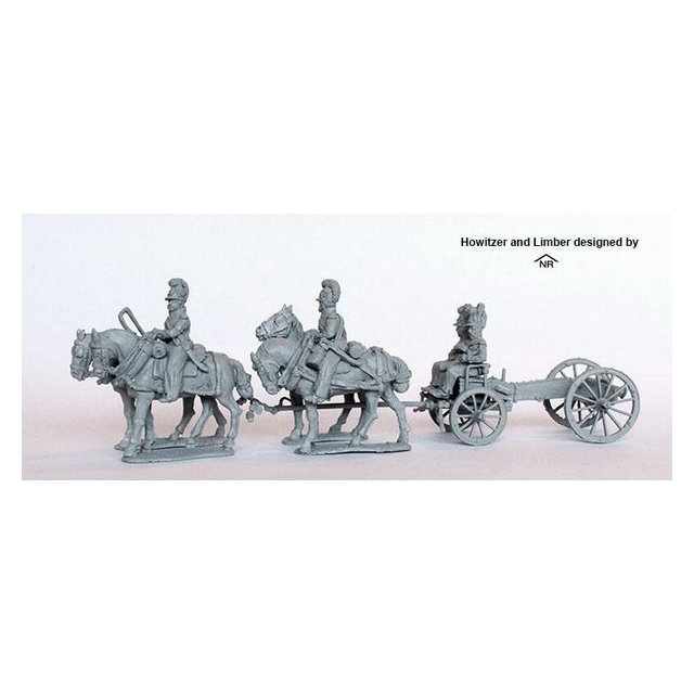 Four horse limber with howitzer